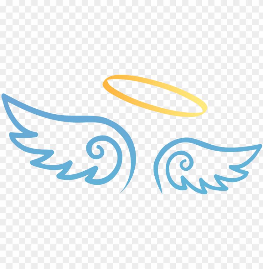 free PNG halo clipart angel wing - desenho asas de anjo PNG image with transparent background PNG images transparent