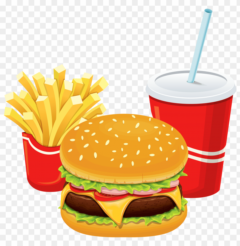 free PNG Download hamburger fries and cola clipart png photo   PNG images transparent