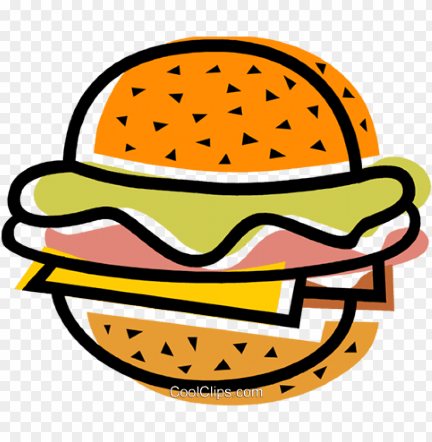free PNG hamburgers royalty free vector clip art illustration - sanduiche vetor PNG image with transparent background PNG images transparent