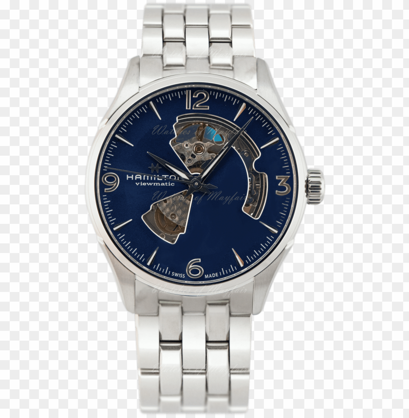 free PNG hamilton jazzmaster open heart automatic 42mm watch - hamilton jazzmaster PNG image with transparent background PNG images transparent