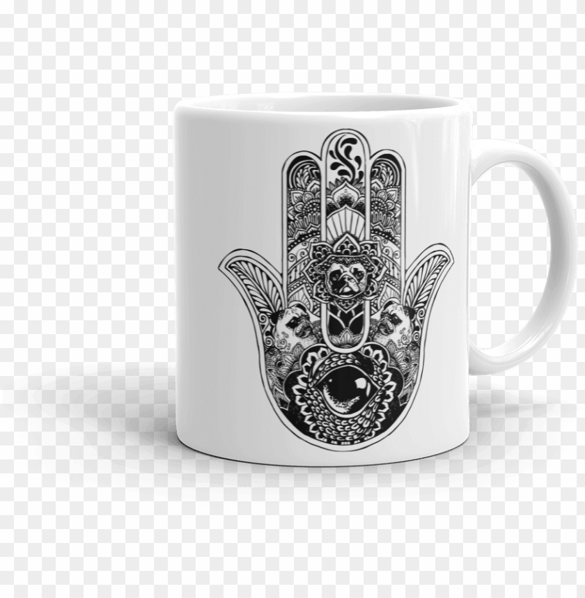 free PNG hamsa hand pug mug - cat hamsa PNG image with transparent background PNG images transparent