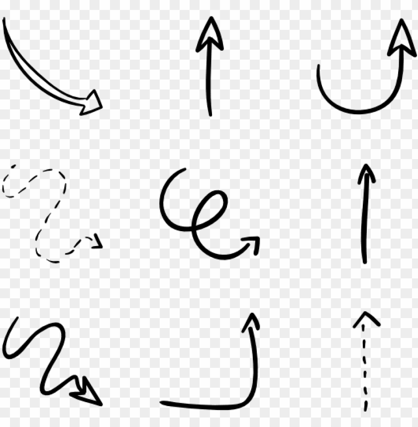 free PNG hand drawn arrow clipart free - arrow transparent calligraphy PNG image with transparent background PNG images transparent