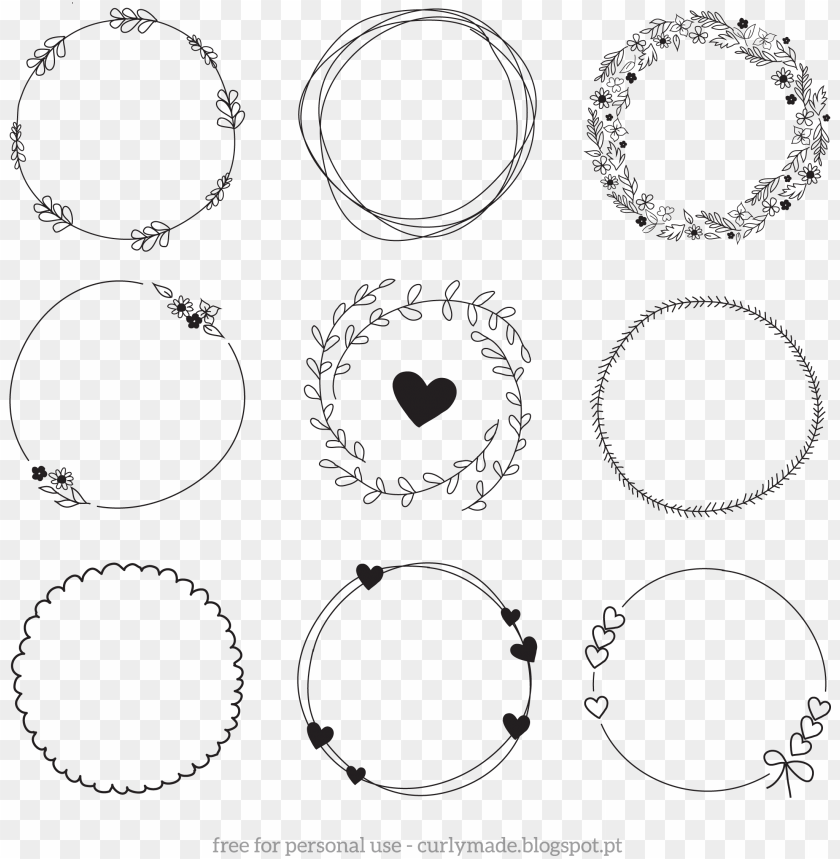 free PNG hand drawn laurel png - hand drawn wreath clipart sv PNG image with transparent background PNG images transparent
