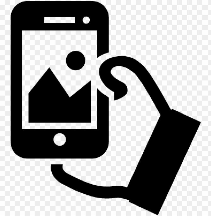 free PNG hand holding cellphone to take a selfie vector - take a picture ico PNG image with transparent background PNG images transparent