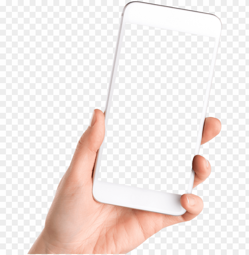 Hand Holding Smartphone Phone In Hand Png Image With Transparent