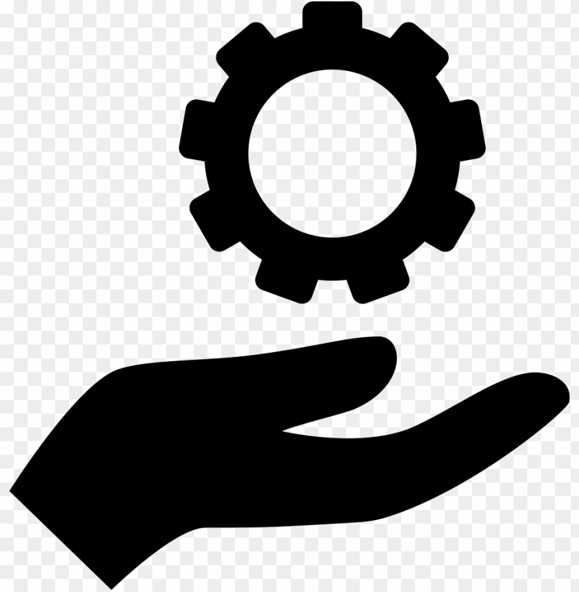 free PNG hand holding up a gear svg  icon free- hand with gear icon png - Free PNG Images PNG images transparent