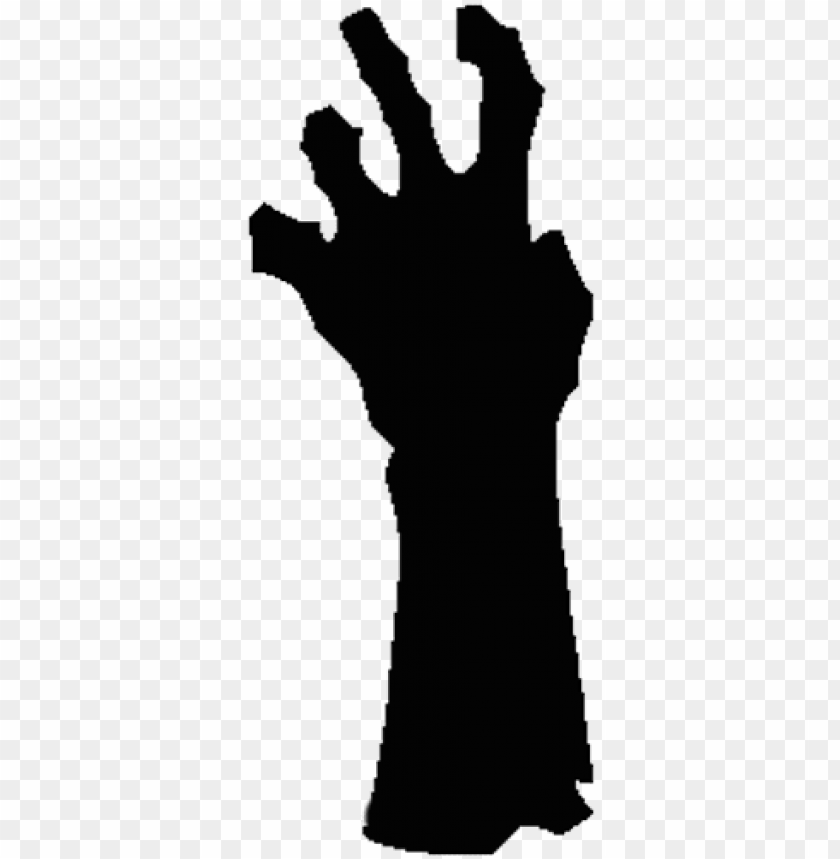 Hand Left Png The Zombie Hands Silhouette Png Image With