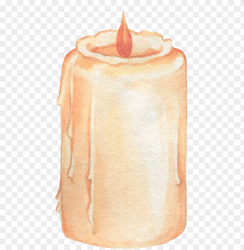 free PNG hand painted a burning candle png transparent - candle PNG image with transparent background PNG images transparent