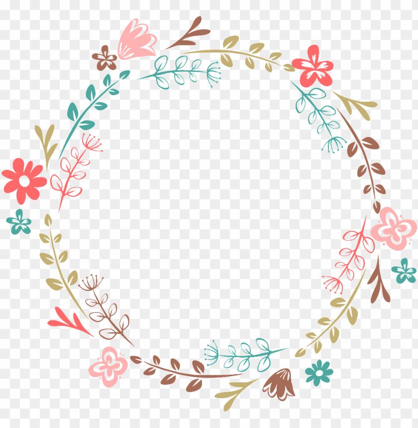 free PNG hand-painted cartoon leaf flower wreath transparent - flower wreath transparent PNG image with transparent background PNG images transparent