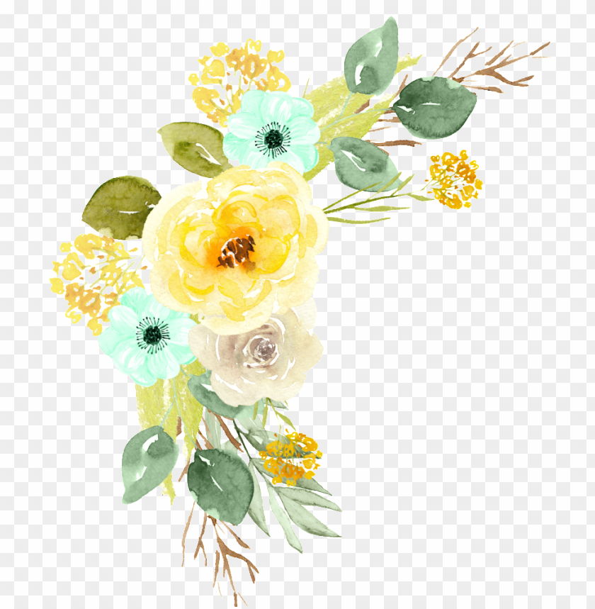 Hand Painted Flowers Color Flower Png Transparent Minze