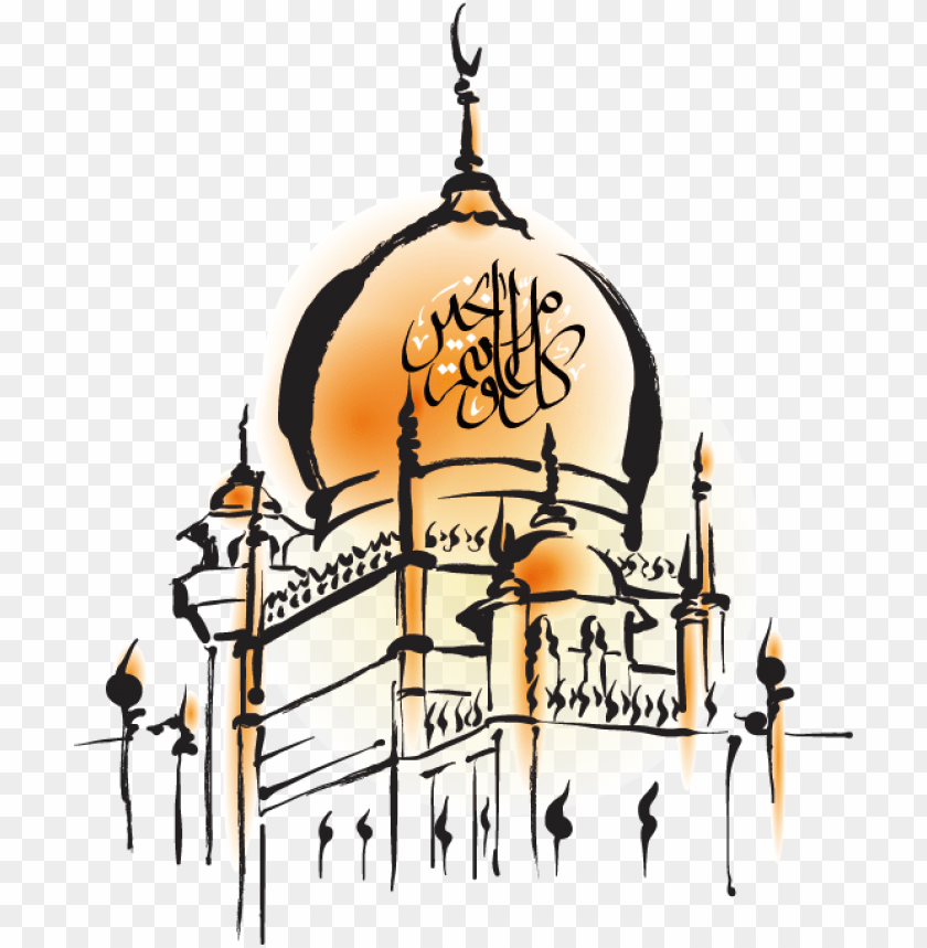 free PNG Download Hand-painted mosque png images background PNG images transparent