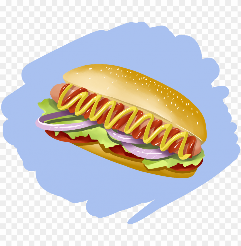 free PNG hand painted original anime vector food fast food foreign - fast food PNG image with transparent background PNG images transparent
