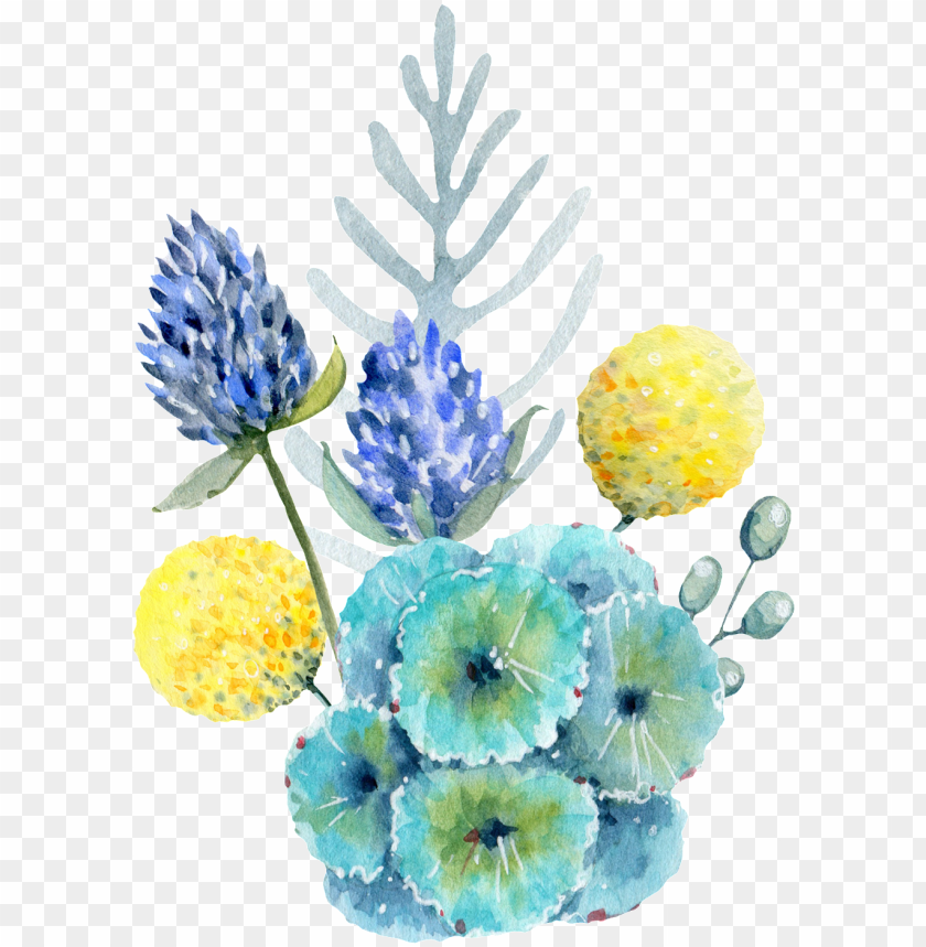 free PNG hand painted yellow onion flower png transparent - flower PNG image with transparent background PNG images transparent