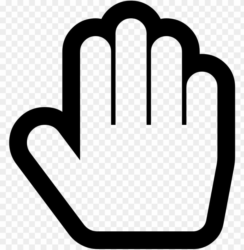hand paper o hand stop o comments - stop hand ico PNG image with transparent background@toppng.com