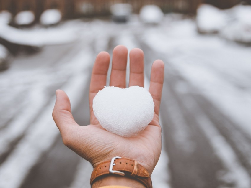 free PNG hand, snow, heart, winter, love background PNG images transparent