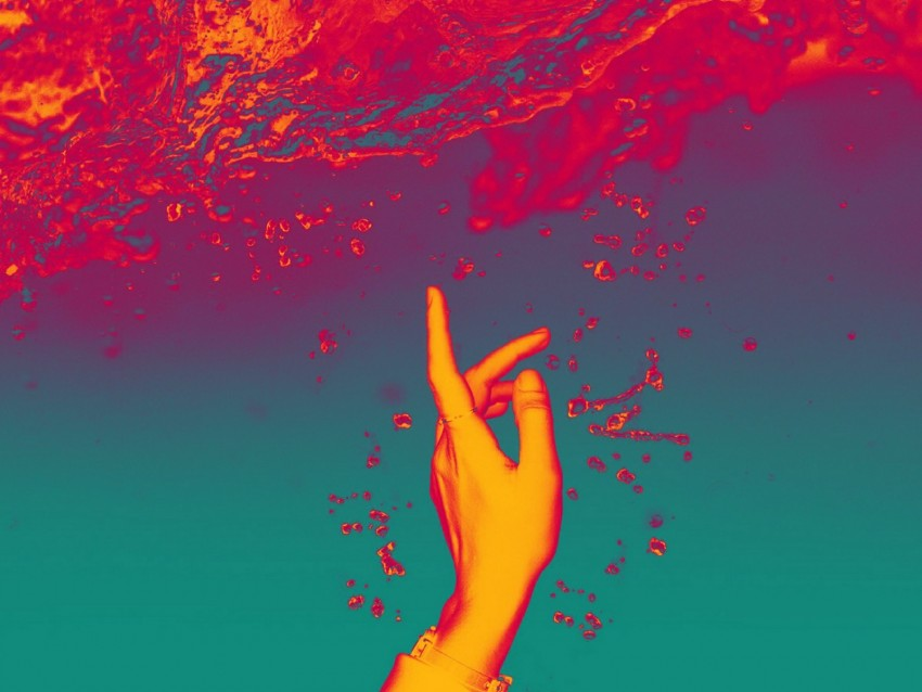 free PNG hand, water, touch, glow, bubbles, splashes background PNG images transparent