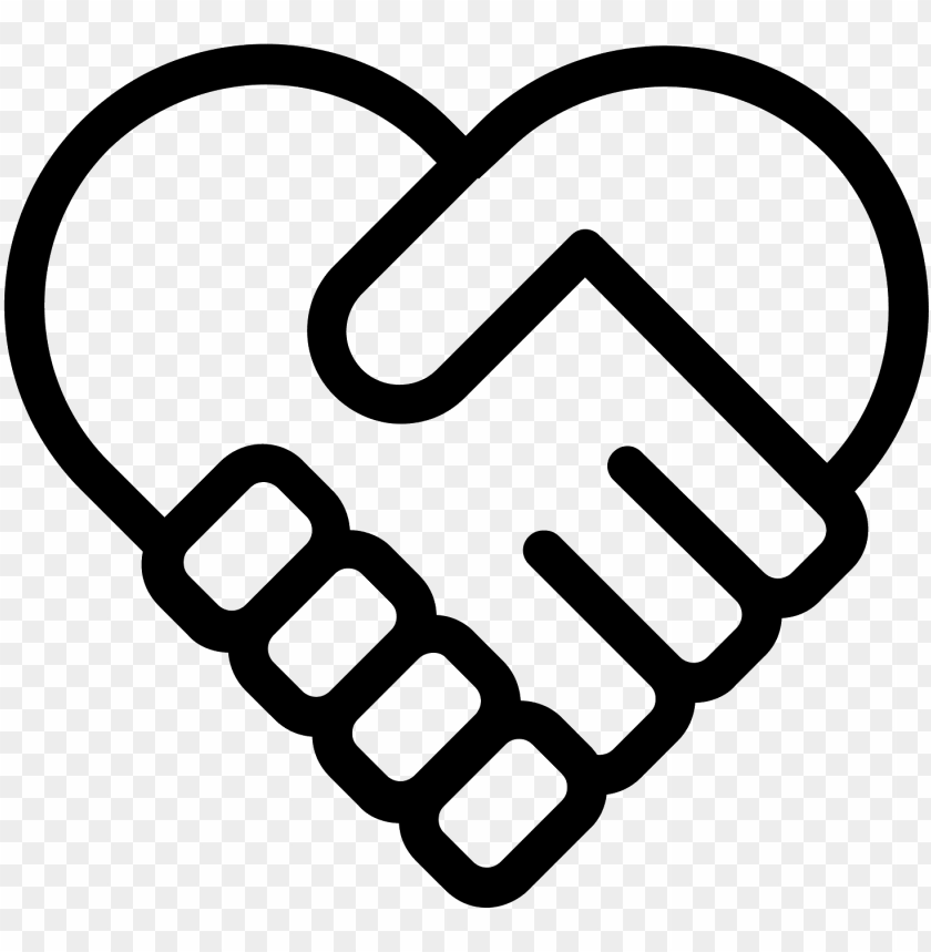 free PNG handshake heart icon - hand shake PNG image with transparent background PNG images transparent