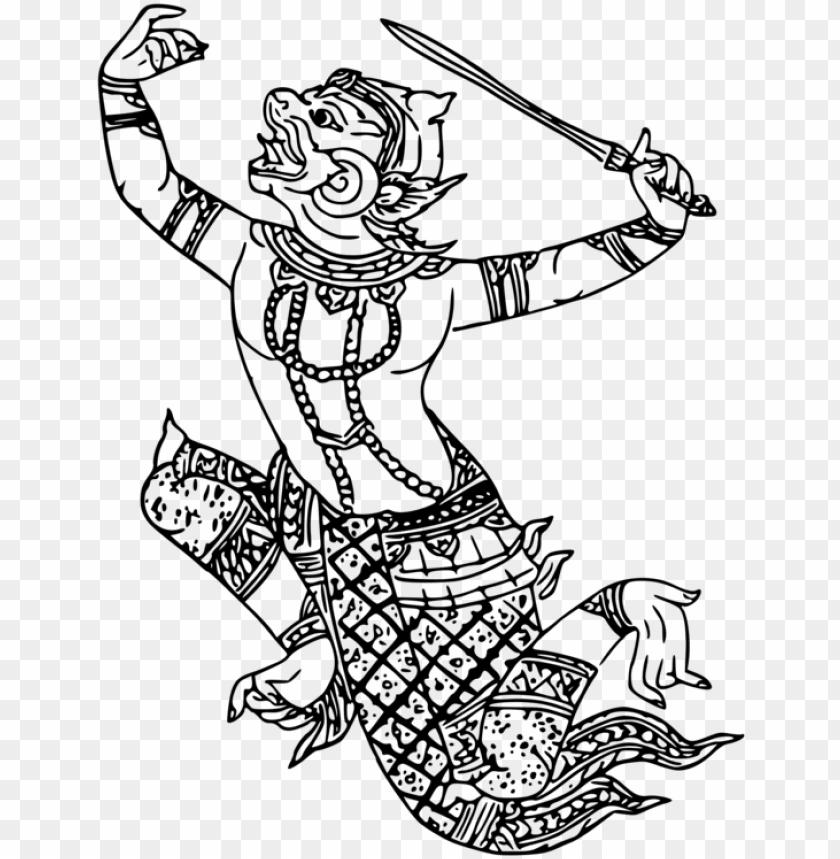Hanuman Drawing Art Hanuman Png Clip Art Png Image With Transparent Background Toppng