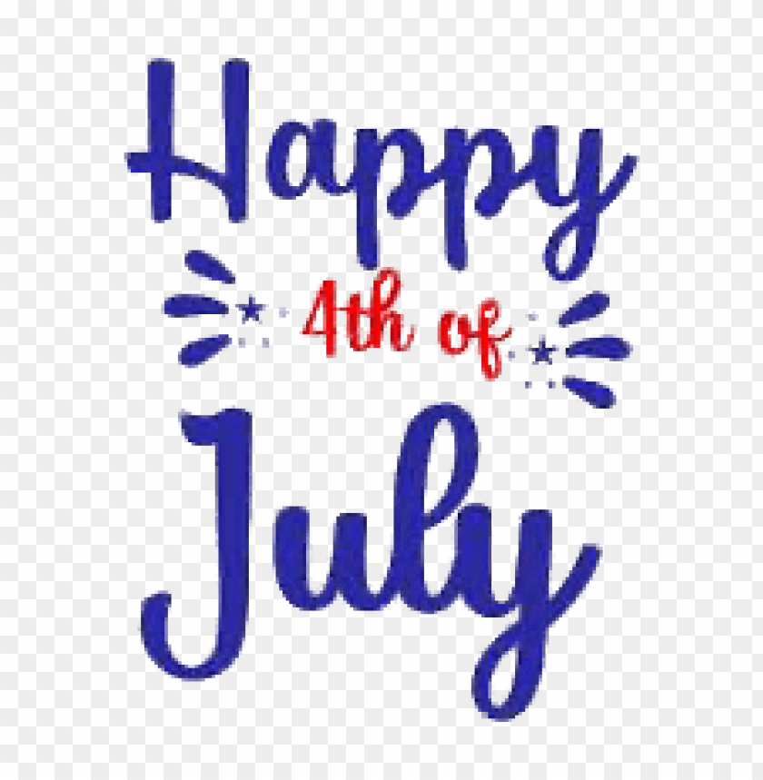 free PNG happy 4th of july blue and red letters PNG image with transparent background PNG images transparent
