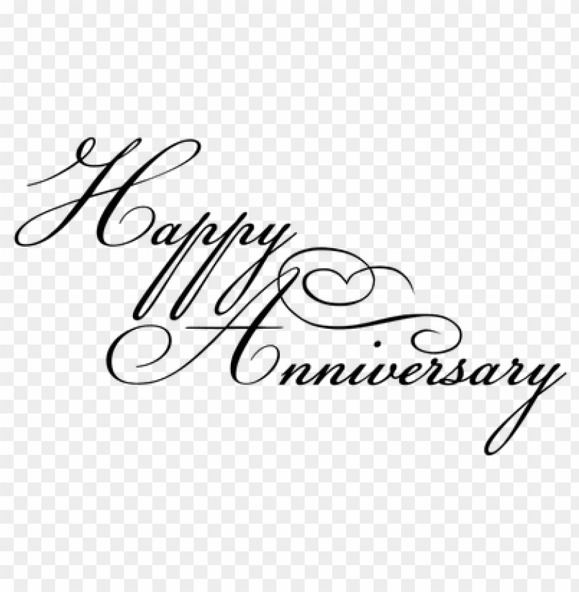 Happy Anniversary Black Writing Png Image With Transparent Background Toppng
