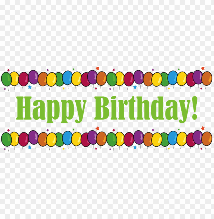 Happy Birthday Banner Png Image With Transparent Background Toppng
