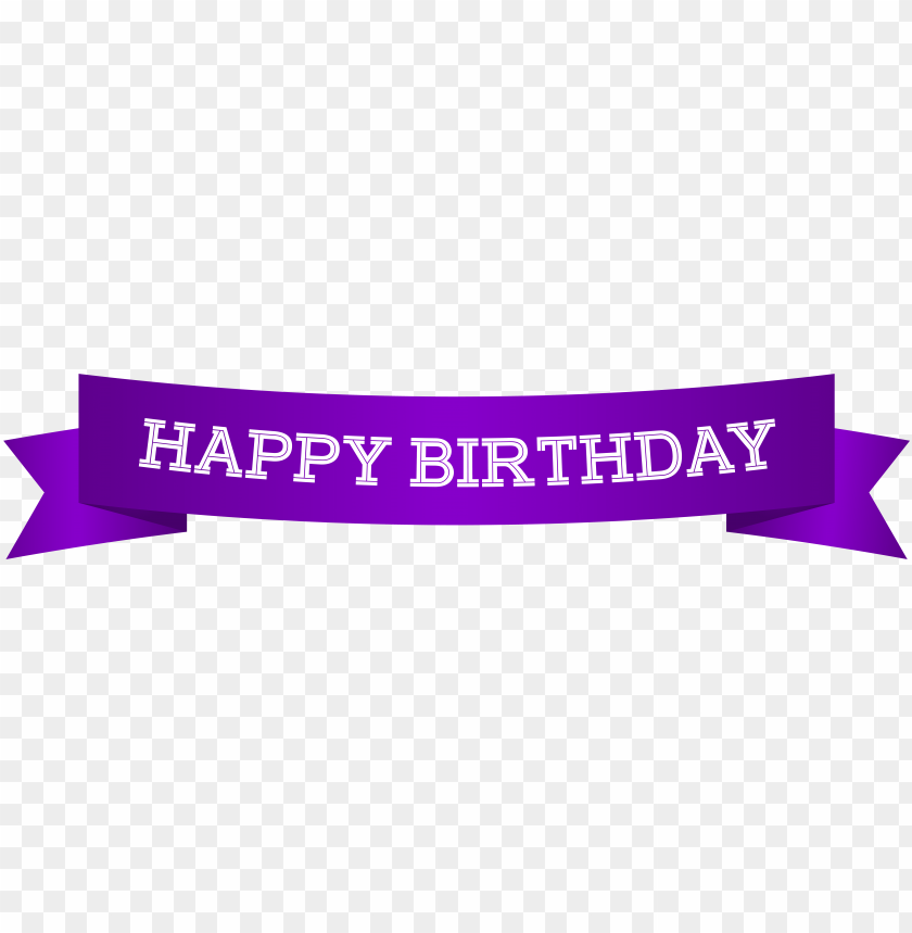 Happy Birthday Banner Purple Png Image With Transparent Background