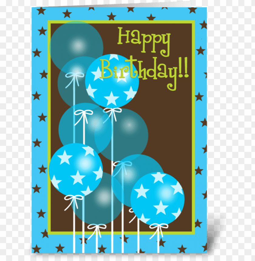 free PNG happy birthday blue balloons greeting card - pink happy birthday balloons PNG image with transparent background PNG images transparent