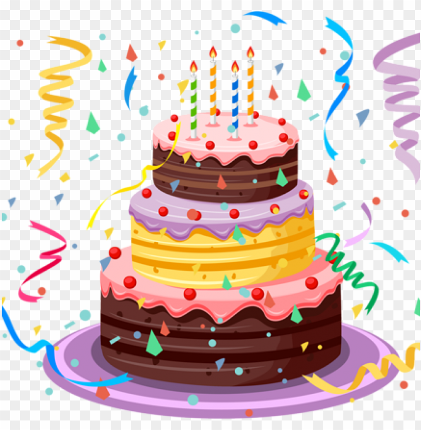 free PNG happy birthday cake clipart birthday cake with confetti - transparent background birthday cake PNG image with transparent background PNG images transparent