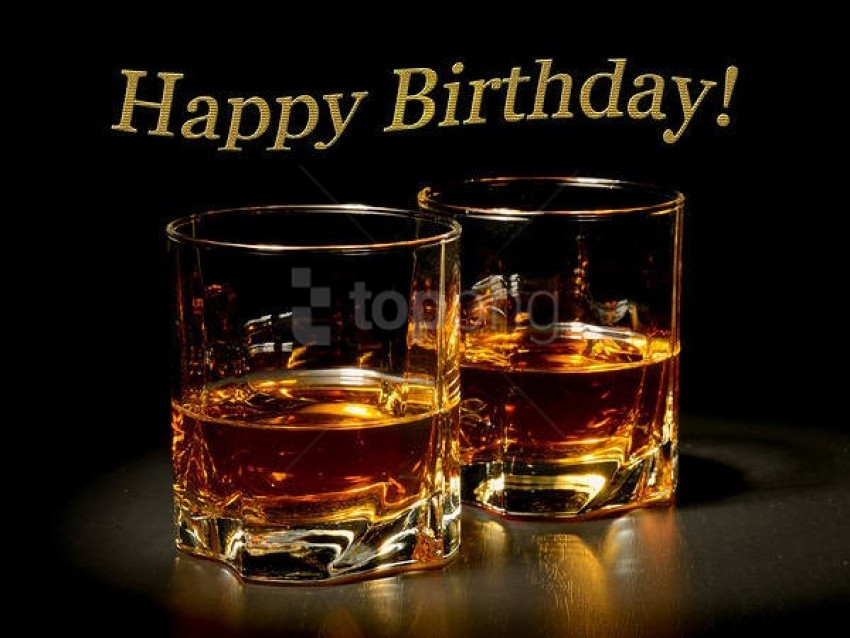 free PNG happy birthday card with whiskey background best stock photos PNG images transparent