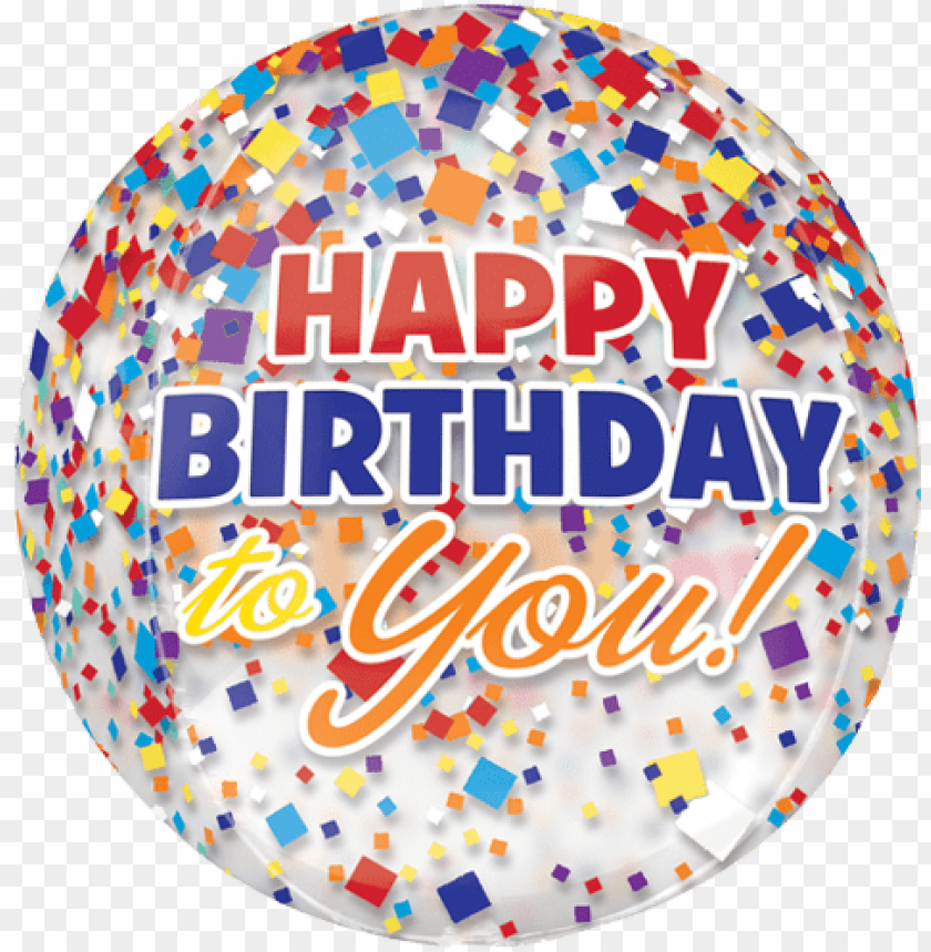 free PNG happy birthday foil balloon png clipart - confetti happy birthday balloons PNG image with transparent background PNG images transparent
