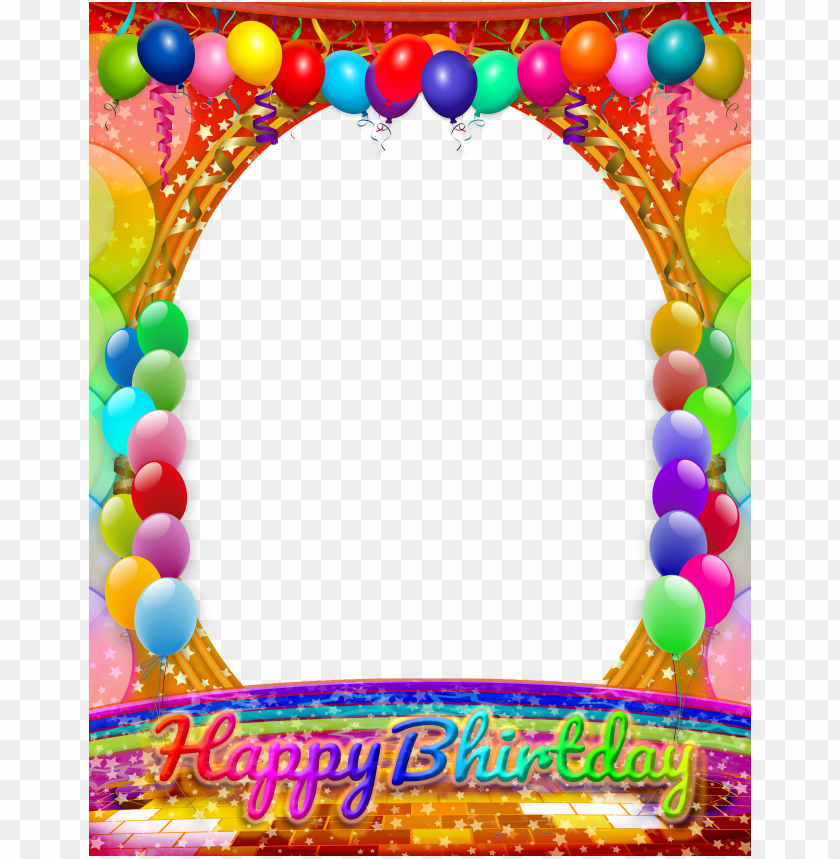 free PNG happy birthday frame, birthday frames, birthday wishes, - red blue green yellow border PNG image with transparent background PNG images transparent