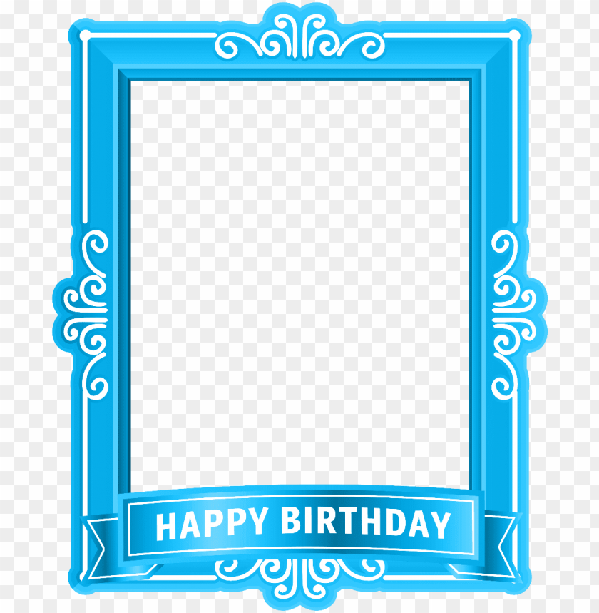 free PNG happy birthday frame, birthday frames, clip art, illustrations - happy birthday frame clipart PNG image with transparent background PNG images transparent