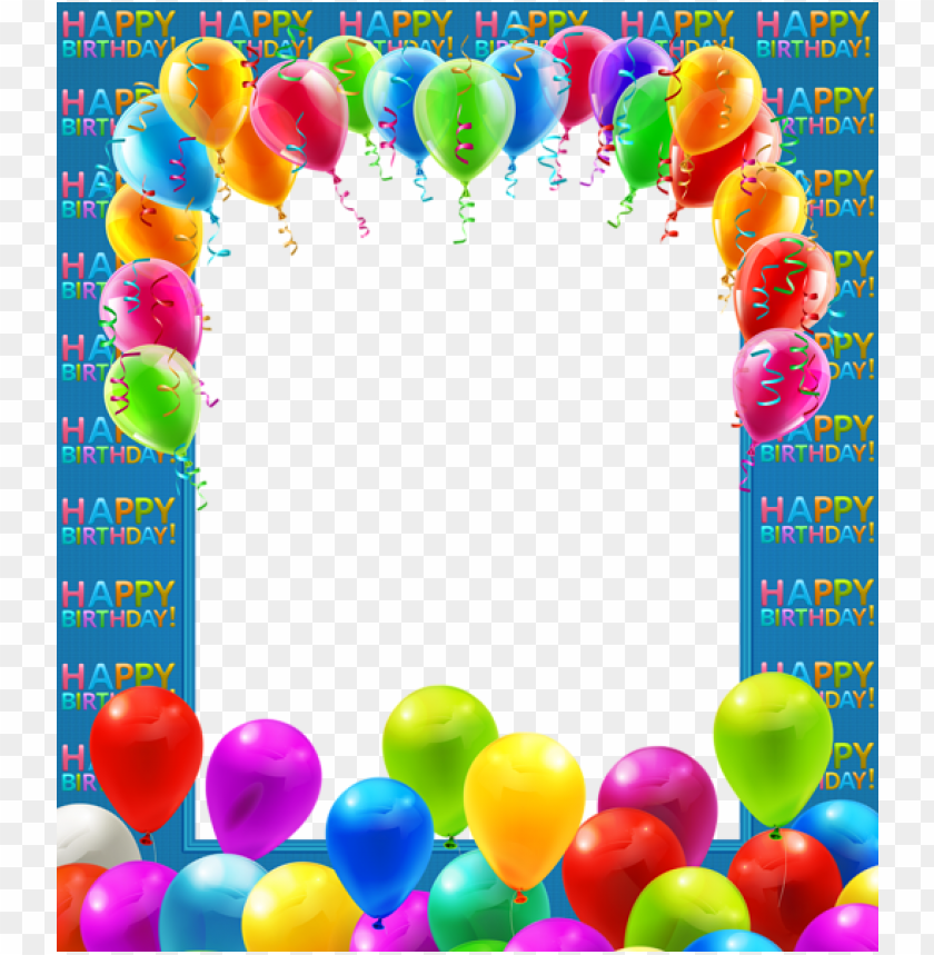 free PNG happy birthday frame, birthday wishes, birthday frames, - balloons frame PNG image with transparent background PNG images transparent