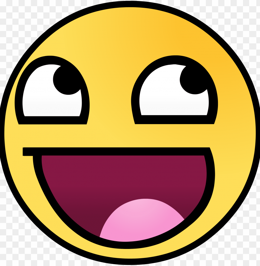 free PNG happy face meme png - awesome face PNG image with transparent background PNG images transparent