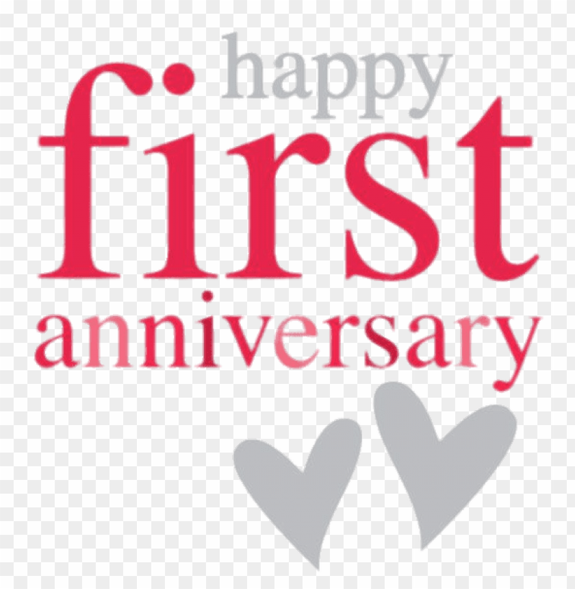 Happy First Anniversary Png Image With Transparent Background Toppng