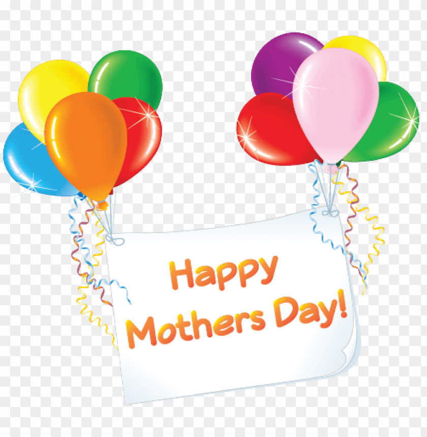 free PNG happy mothers day balloons - happy mothers day uk PNG image with transparent background PNG images transparent