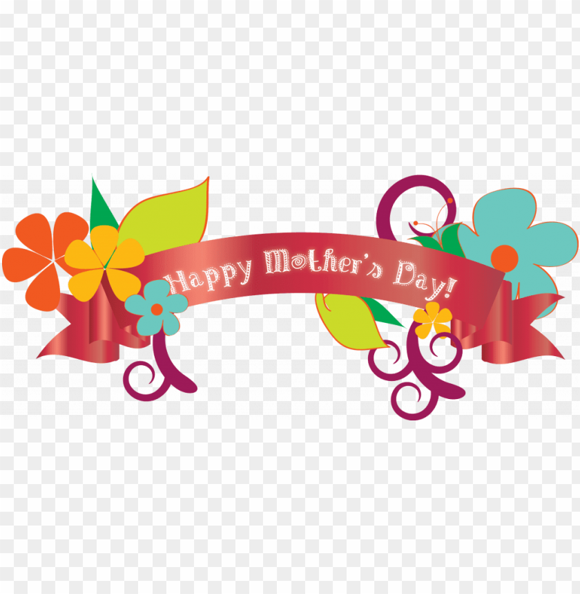 free PNG happy mothers day banner2 by brianna - happy mothers day PNG image with transparent background PNG images transparent