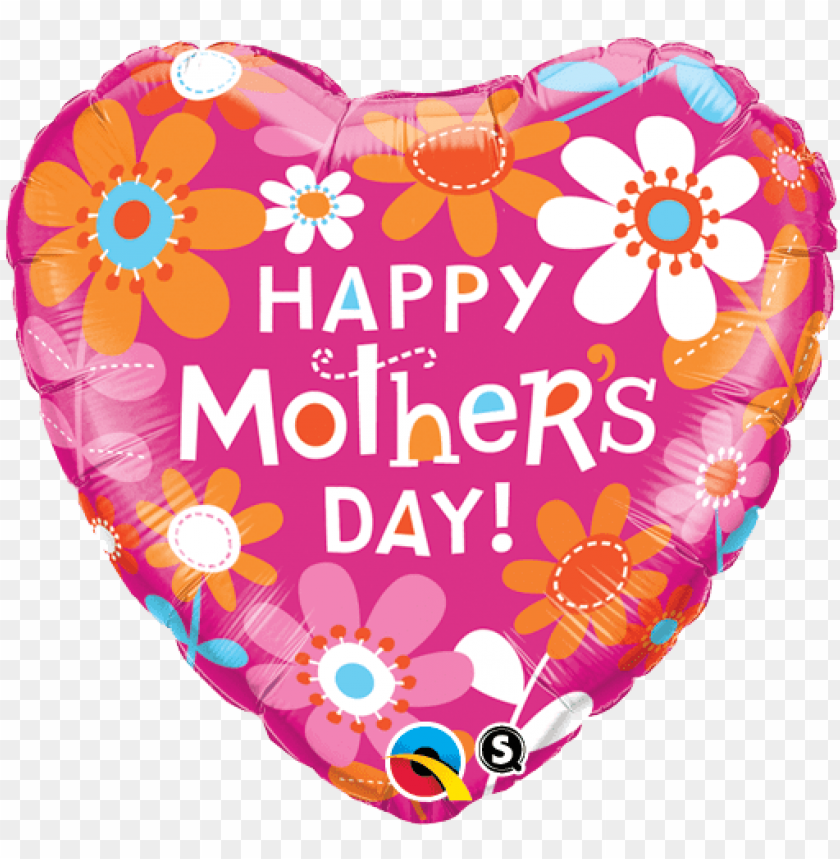 free PNG happy mothers day heart shape balloon - mothers day foil balloons PNG image with transparent background PNG images transparent