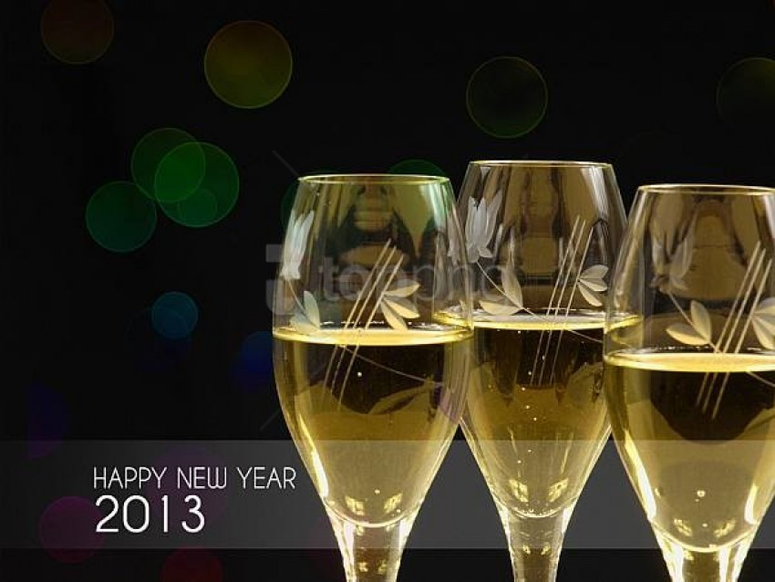 free PNG happy new year 2013 with champagne glasses background best stock photos PNG images transparent
