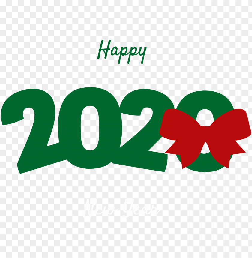 free PNG Happy New Year  green 2020 PNG PNG Images PNG images transparent