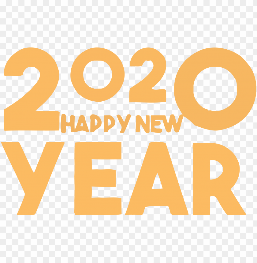 free PNG Happy New Year Yalow 2020 PNG PNG Images PNG images transparent