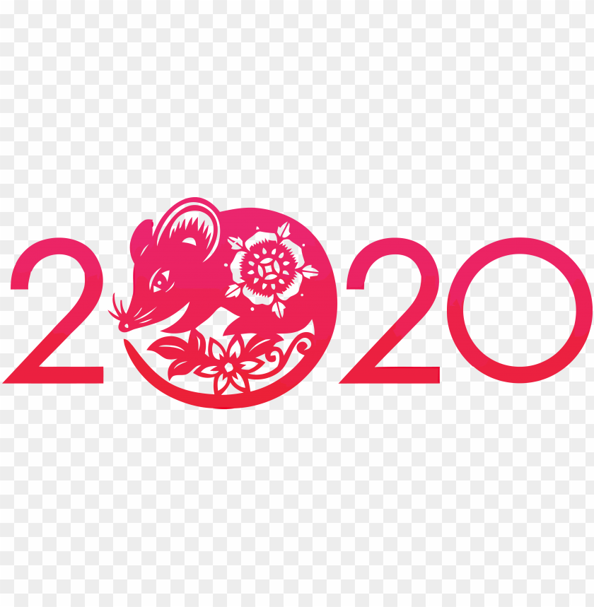 free PNG Happy New Year red 2020 PNG PNG Images PNG images transparent