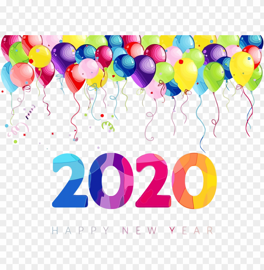 Happy New Year 2020 Png Png Images Toppng