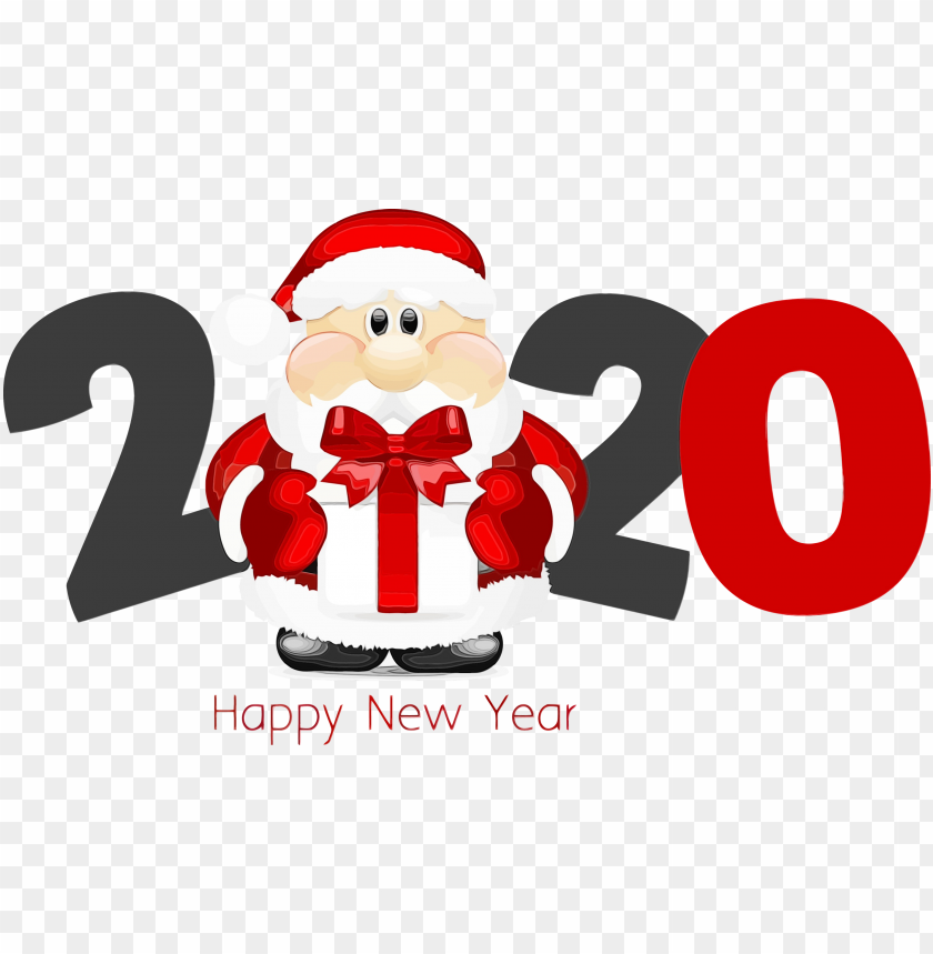 free PNG Happy New Year Santa 2020 PNG PNG Images PNG images transparent