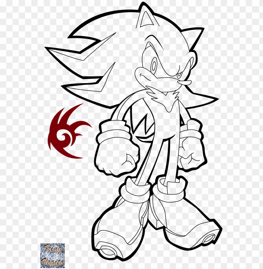 Happy Super Shadow The Hedgehog Coloring Pages - Super Shadow Coloring Pages  PNG Image With Transparent Background TOPpng