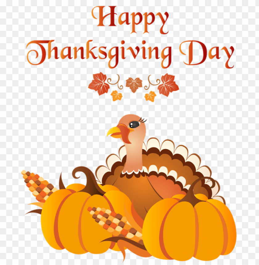 Download Happy Thanksgiving Day With Turkey Png Images Background Toppng