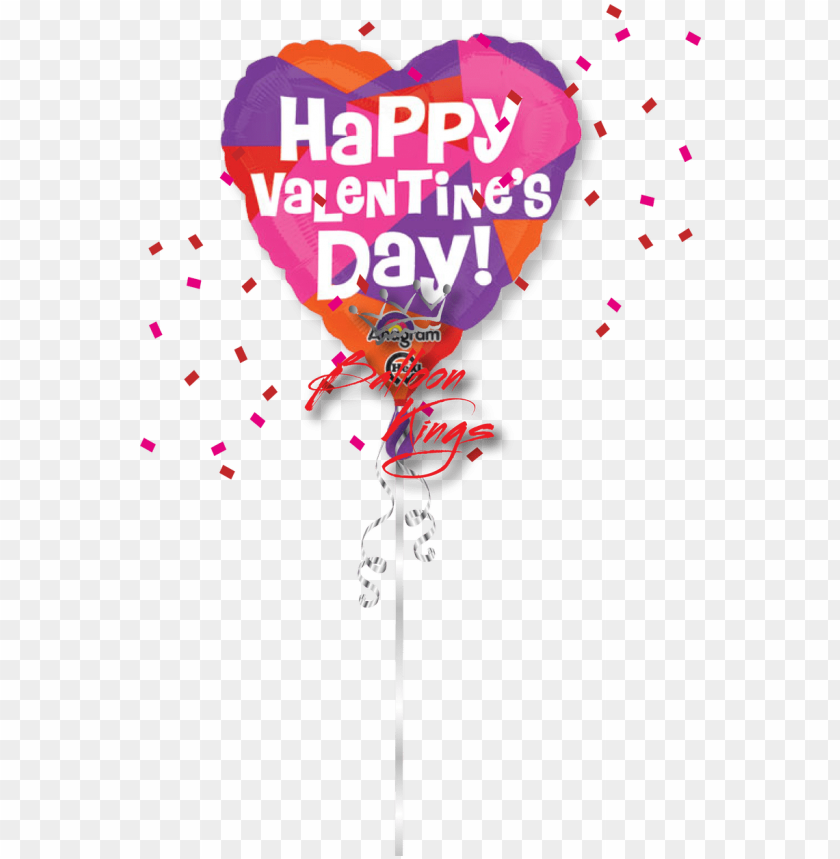 free PNG happy valentines day color block - happy valentines day balloon PNG image with transparent background PNG images transparent
