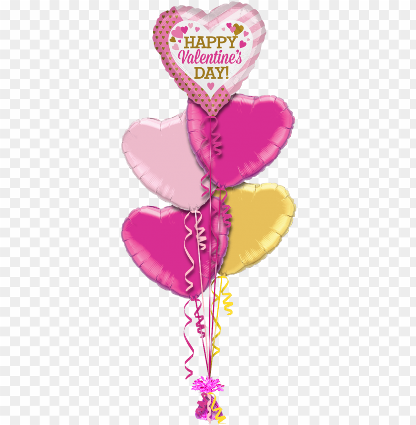 free PNG happy valentines pink and gold hearts valentines balloon - 18 inch red/red heart foil - flat PNG image with transparent background PNG images transparent