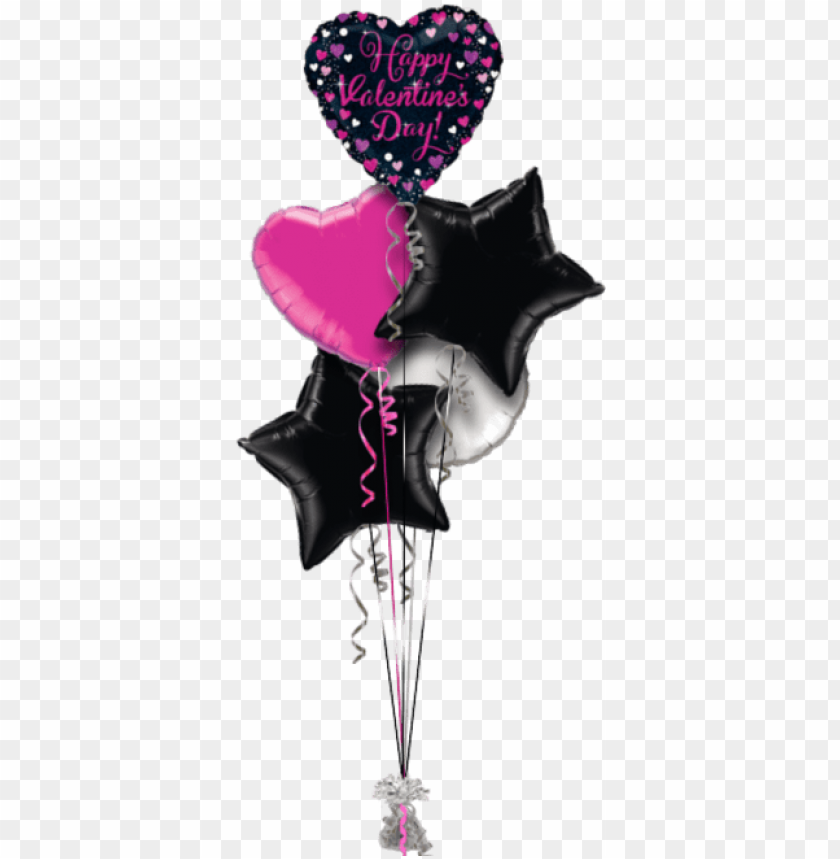 free PNG happy valentines pink sparkles hearts valentines balloon - happy birthday sister balloo PNG image with transparent background PNG images transparent