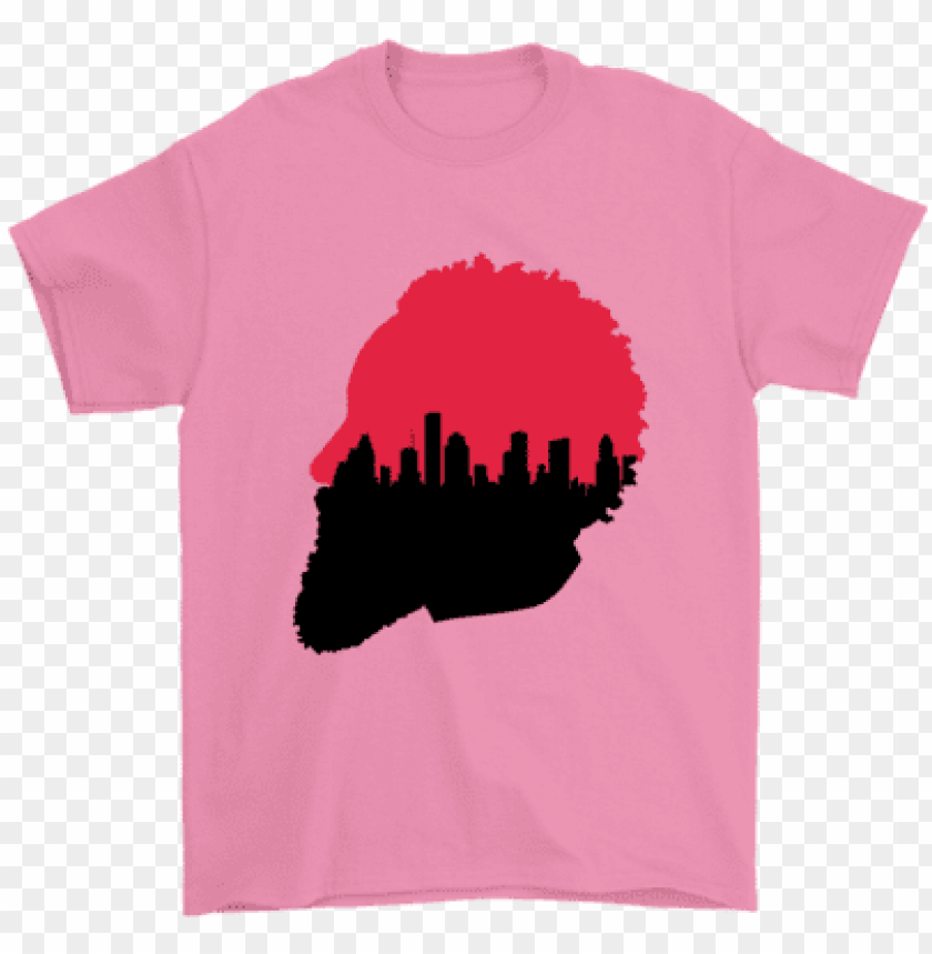 free PNG harden silhouette houston skyline t-shirt - t shirt fortnite nike just play PNG image with transparent background PNG images transparent